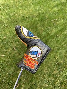 Scotty Cameron Custom Shop Black Johnny Racer Blade Putter Headcover Speed Shop