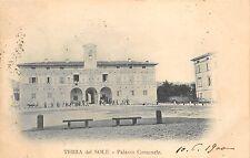 9462) TERRA DEL SOLE (FORLI') PALAZZO COMUNALE. ANIMATA, VIAGGIATA NEL 1960.