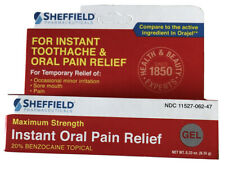 Sheffield Instant Oral Pain Relief Exp 1/22 Works well on bug bites too!