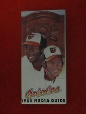 1983 BALTIMORE ORIOLES PRESS MEDIA GUIDE WORLD SERIES CHAMPIONS NRMT-MINT