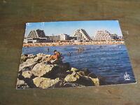 ancienne carte postale CPSM CPM la Grande Motte ville de l'an 2000 la plage