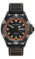 """CX SWISS MILITARY WATCH """"TANK NERO RAWHIDE"""" 27431 Swiss Made 20ATM M-Nylon 102g"""