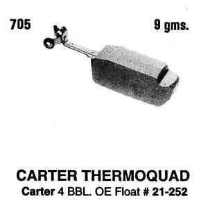 Carburetor Float-VIN: N Tomco 705