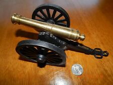 1960'S-70'S MFCO. CAST IRON & BRASS MINIATURE TOY REPLICA CANNON !