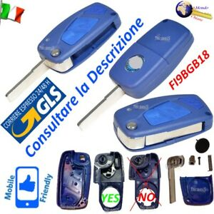 CHIAVE Telecomando GUSCIO FI9BGB18 LAMAFLIP 3TASTI per FIAT Doblo Ducato Fiorino