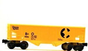 Vintage Lionel Chessie System B & O Hopper Yellow 9016