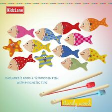Kidzlane Magnetic Fishing Game for Kids | Easy Catch Magnet Rods