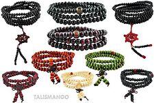 Mala Buddha Gebetskette - Rudraksha OM Hindu Tibet Sandelholz Perlen (TG0001Z13)