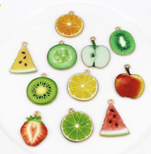 100pcs Watermelon strawberry Alloy Enamel Pendants earring jewellery making