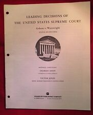 LEADING DECISIONS OF THE UNITED STATES SUPREME COURT GIDEON v.WAINWRIGHT (26)