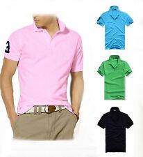New Brand Men's Slim Sports Beach Short Sleeve Casual Polo Shirt T-shirts Tops
