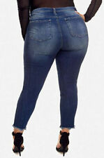 Women's Plus Size Berry Dark Wash Cropped Skinny Jeans