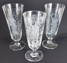 3 VERRES / verres à bière,gravure décoration, um 1900 al299
