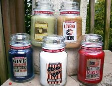 "SET OF 5 Yankee Candle 22 oz. ""HOMETOWN GIRL"" ~LE~ PATRIOTIC~SUPPORT OUR TROOPS"