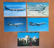 Olympic Airways Airlines Greece 5 postcards Vintage - 4 cards BOEING & 1 Rhodes