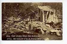 "Malt Grinding Mill ""for Blockade"" NC Blue Ridge Mts PC Rare CIVIL WAR? ca. 1910s"