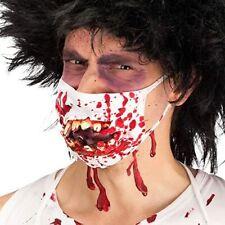 Mascherina Lacera Zombie denti di gomma Horror Travestimento Halloween Adulto