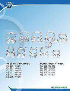 Rubber dam clamps Dental Instruments 11 Pcs