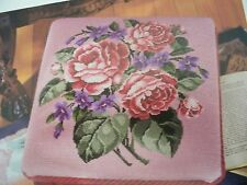 Old Fashioned Rose Bouquet OOP Cross Stitch PATTERN (W)