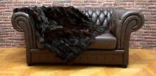 Luxury Genuine Brown Fox Throw Blanket