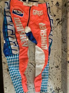 MOTOCROSS JT RACING CUSTOM PANTS ORANGE AND BLUE SIZE 36