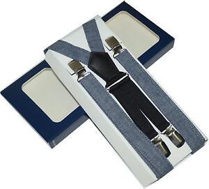 BRETELLE  novità tela jeans blu made in italy LARGHEZZA CM.2