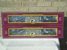 Sealed 2 Pack:  MTH Premier Westinghouse Schnabel Flatcar          NEW