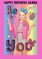 JoJo Siwa Bows Birthday Card A5 Personalised with any wording