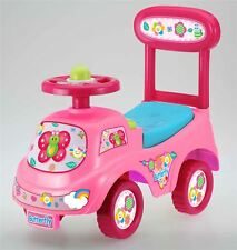 Push Along Sit On Ride On Car Quality Walker Toy Butterfly Theme