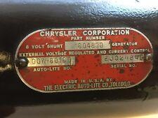 Chrysler DeSoto Dodge Plymouth Imperial GENERATOR 6 Volt GGW60160  steering Pump