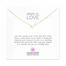 """Dogeared Gold Dipped Pearls Of Love Gift Boxed 16"""" with 2"""" Extender Necklace"""