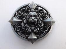 3D LION HEAD BELT BUCKLE METAL