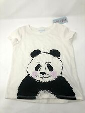 NEW Girls Cat & Jack Blushing Panda Bear Top Tee Shirt NWT Size XS 4-5