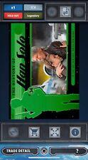Topps Star Wars Card Trader Green History Of Han Solo General Leia Award 8cc
