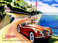 Transport jaguar monte carlo circuit voiture automobile new art print poster CC5509