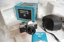 Kamera Praktica mtl3 & Domiplan 1:2 .8 50mm Objektiv + Tasche + Box selten rar.