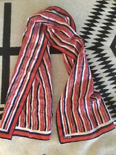 Vintage Vera Neumann Stripes Red White Blue Scarf