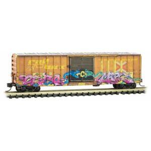 Z Scale - MICRO-TRAINS 510 45 012 RAILBOX 50' Box Car w/ Poison Day Graffiti