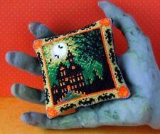 Halloween House Pincushion Cross Stitch Kit, Sheena Rogers Designs