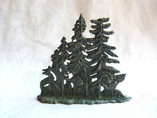 Groupe de petits sapins en plomb hauteur 5,5 cm pour décor de chasseurs alpins