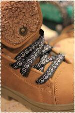 Coppia Stringhe per scarpe colori Fashion NERE PEACE&LOVE 115 cm *shoes strings