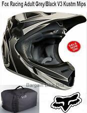 FOX V3 KUSTM Motocross Helmet NEW rrp$649 MIPS Blk Grey MX DirtBike Off Road