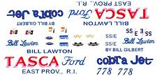 Bill Lawton TASCA Ford 67-68 Mustang Cobra Jet 1/64th HO Scale Slot Car  Decals