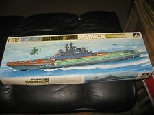 USSR Aircraft Carrier MNNCK - 1/700 scale - Aoshima - Water Line Series -started