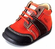 BOTTINES CHAUSSURES BEBE 17 lacets cuir marron rouille Ditop ASTER garçon NEUF