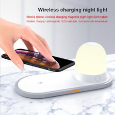 10W Wireless Charger Holder Magnetic LED Night Light Lamp Fast Charging Dock