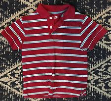 The Childrens Place Little Boy Short Sleeve Polo Shirt Blue Stripe Size XS 4