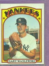 1972 TOPPS # 108 GARY WASLEWSKI YANKEES EX/NM