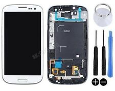 ECRAN LCD + VITRE TACTILE SUR CHASSIS POUR SAMSUNG GALAXY S3 SIII i9300 BLANC