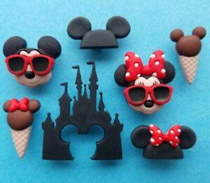 DISNEY VACATION Craft Buttons Mickey Minnie Mouse World Disneyland Dress It Up